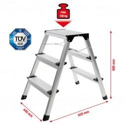 Step ladder, aluminium, 3...